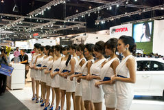 Довольно сексуально в выставке мотора Таиланда Стоковое Фото