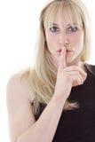 довольно тихая женщина Стоковое Изображение