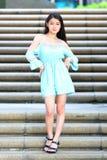 Довольно азиатская девушка стоковые изображения rf