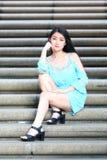 Довольно азиатская девушка стоковая фотография rf