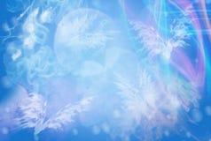 Довольно голубая абстрактная предпосылка с белизной Стоковая Фотография