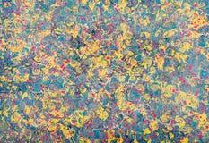 Довольно голубой и желтый дизайн мраморной бумаги Стоковые Изображения RF