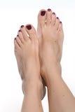 Довольно женские ноги Стоковые Фото