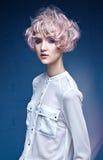 Довольно молодая дама с красочным coiffure Стоковое фото RF