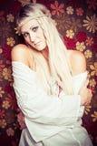 Довольно молодая женщина Hippie Стоковое фото RF