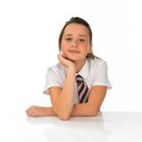 Довольно молодая школьница с красивой улыбкой Стоковые Фото