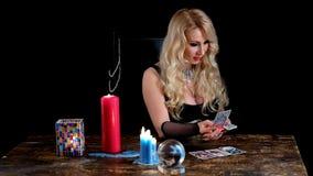 Догадки ведьмы на карточках видеоматериал