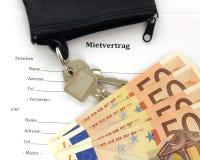 Договор об аренде: Ключ к деньгам Стоковое Изображение