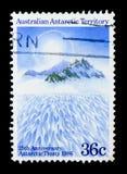 договор 25th годовщины антартический, идти снег горы, serie, около 1986 стоковая фотография