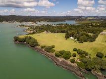 Договор Waitangi заземляет вид с воздуха стоковое фото rf