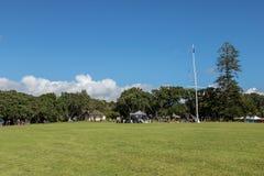 Договор Waitangi заземляет флагшток на день Waitangi стоковые фото