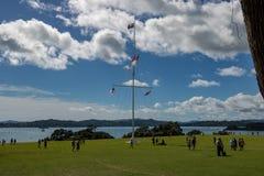 Договор Waitangi заземляет флагшток стоковое изображение