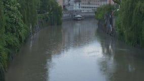 Дождливый день в Любляне сток-видео