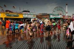 Rainy day in Cony Island Стоковое Изображение
