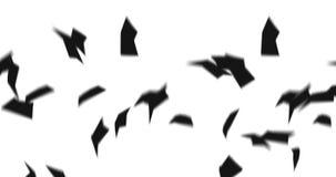 Дождь бумаги офиса Силуэт документа в воздухе Официальная бумага Символ дела Абстрактная анимация cg петли иллюстрация вектора