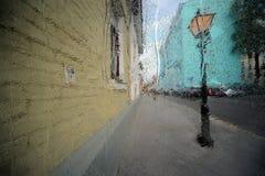 Дождь города капелек воды Стоковое фото RF