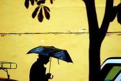 дождь города Стоковое Изображение