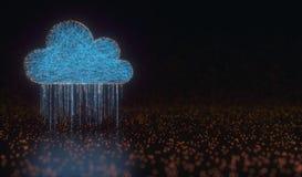 Дождь данным по облака вычисляя Стоковые Фотографии RF