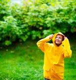 дождь девушки вниз Стоковое Изображение RF