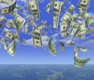 дождь доллара Стоковое фото RF