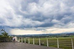 Дождь лета в dos Campos - Бразилии São José Стоковые Фотографии RF
