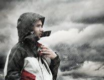 дождь людей стоковые изображения rf