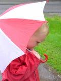 дождь мальчика Стоковое Изображение