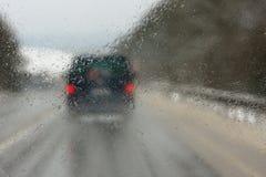 Дождь на хайвее Стоковое Изображение RF