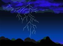 дождь ночи иллюстрация вектора