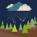 дождь облака осени иллюстрация вектора