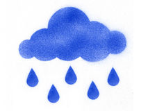 дождь облачных капель Стоковое Изображение RF