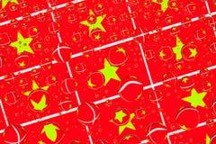 Дождь падает вполне въетнамских флагов Стоковые Фото
