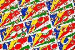 Дождь падает вполне флагов Сейшельских островов Стоковое фото RF