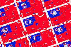 Дождь падает вполне Tchaj-болезненных флагов стоковая фотография