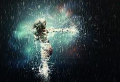 дождь танцы иллюстрация вектора