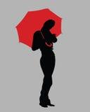 дождь 2 девушок стоковые фото
