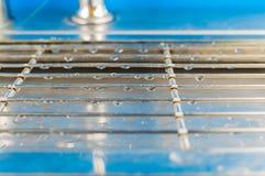 Дождевые капли на решетке Стоковые Фотографии RF