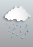 Дождь вектора бумажный Стоковая Фотография
