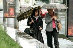 Дождь в Киеве Стоковое Изображение RF