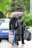 Дождь в Киеве Стоковые Фото
