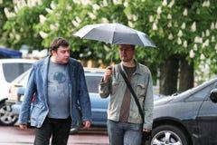 Дождь в Киеве Стоковое Фото