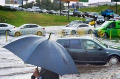 Дождь города Стоковое Фото