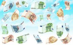 Дождь евро иллюстрация штока