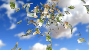 Дождь денег акции видеоматериалы