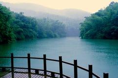 Дождь леса бамбука Shitang Стоковое Изображение RF