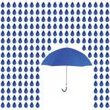 Дождь и зонтик Стоковое Изображение RF