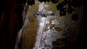 Дождь и люди видеоматериал