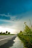 Дождь на дороге Стоковая Фотография RF