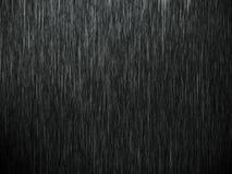 Дождь на черноте Стоковая Фотография