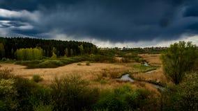 Дождь над Spring Valley, timelapse видеоматериал